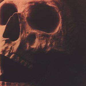False-Happiness Skull Album cover art for sale designer