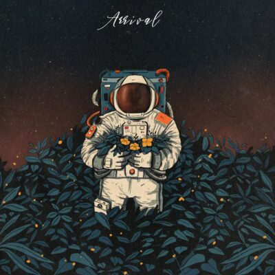 Astronaut Flowers in hand Album cover art